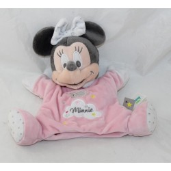 Doudou puppet Minnie Mouse DISNEY BABY pink sheep cloud