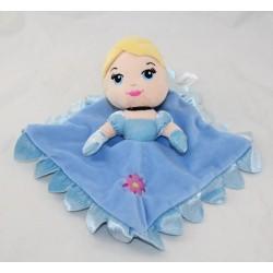 Doudou plat Cendrillon DISNEY NICOTOY princesse bleu fleur mauve