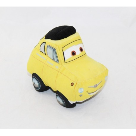 Peluche car Luigi DISNEY Cars yellow Italian car Disney 13 cm