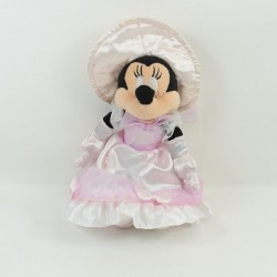 Peluche Minnie DISNEYLAND PARIS period dress pink satin hat 28 cm