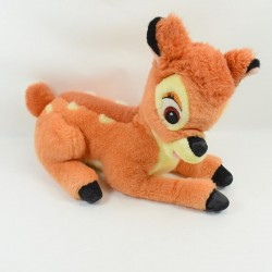 Peluche Bambi DISNEY biche orange beige marron 38 cm