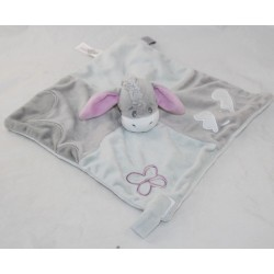 Flat Doudou Bourriquet DISNEY NICOTOY grey clouds attaches nipple 26 cm
