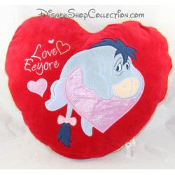 Heart-shaped cushion DISNEY STORE Red Bourriquet 38 cm