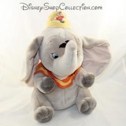 Peluche éléphant DISNEY CLASSICS Dumbo plume noire 32 cm