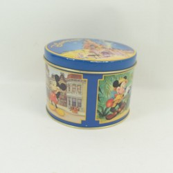 Mickey DISNEYLAND PARIS rotondo vintage scatola in stile retrò 12 cm