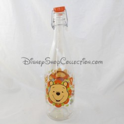 DISNEY Glass Water Bottle Winnie the Pooh and Orange Tigger 34 cm