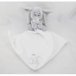 Doudou handkerchief Dumbo DISNEY STORE white grey elephant Baby 40 cm