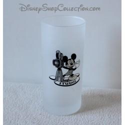 Verre Mickey WALT DISNEY STUDIOS blanc noir caméra 13 cm
