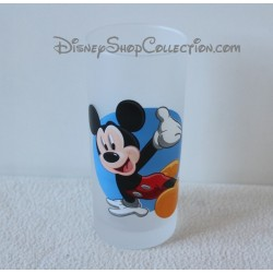 Glass Mickey DISNEYLAND PARIS blue white Adventurous 13 cm