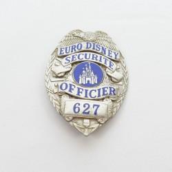 Security officer badge EURO DISNEY enamelled metal 1992