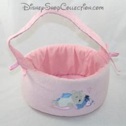 BASKET producto de aseo DISNEY STORE Winnie the Pooh y Bourriquet rosa cesta de cámara 23 cm