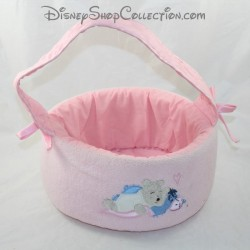 BASKET toilet product DISNEY STORE Winnie the Pooh and Bourriquet pink chamber basket 23 cm