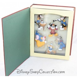 Livre Storybook Band Leader DISNEY Christmas Collection set 6 ornements figurines résine Story book 8 cm