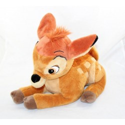 Peluche Bambi DISNEYLAND PARIS lying brown doe 36 cm