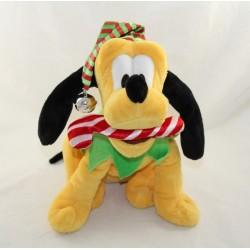 Peluche animée chien Pluto DISNEY STORE Noël Vive le vent 26 cm
