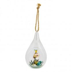 Christmas ball rabbit Pan Pan DISNEYLAND PARIS Bambi glass ball