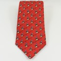 Donald DISNEYLAND PARIS red man 100% silk tie