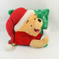 Coussin carré Winnie l'ourson DISNEY Noël vert 34 cm