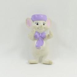 Figurine souris Bernard DISNEY Bernard et Bianca souple 8 cm