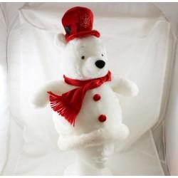 Hat Winnie the Pooh DISNEYLAND PARIS white Christmas red white 37 cm