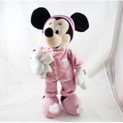 Peluche Minnie DISNEYLAND PARIS pink teddy bear pyjama 45 cm