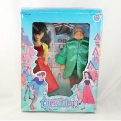 Pacchetto 2 bambole Quasimodo MGM cartone animato 1996 Esmeralda e Franìois RARE