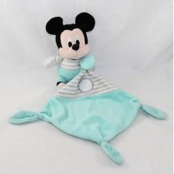 Doudou mouchoir Mickey DISNEY NICOTOY gris vert 35 cm