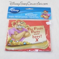 6 biglietti d'invito DISNEY Peter Pan biglietto d'invito di compleanno pirata