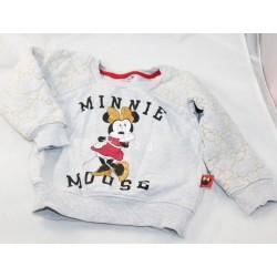 Sweat Minnie DISNEY Baby Minnie Mouse 1928 gris 12-18 mois