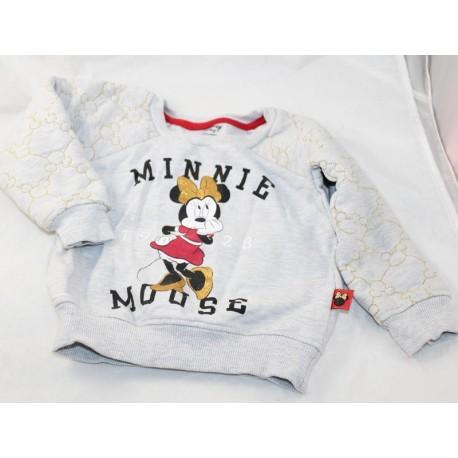 Sweat Minnie DISNEY Baby Minnie Mouse 1928 grey 12-18 months