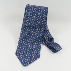 Cravate Donald DISNEYLAND PARIS bleu homme 100% soie