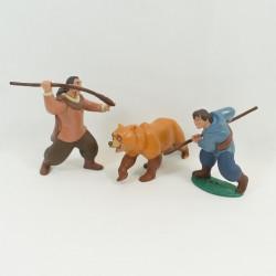 Set di 3 figurine di DISNEY orso fratello Kenai Denahi e Sitka