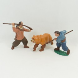 Set of 3 figurines of DISNEY bear brother Kenai Denahi and Sitka