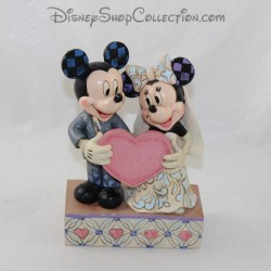Figure Jim Shore Mickey and Minnie DISNEY TRADITIONS Two Souls, One Heart Wedding Resin 19 cm