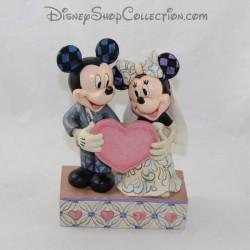 Figurine Jim Shore Mickey et Minnie DISNEY TRADITIONS Two Souls, One Heart Mariage résine 19 cm