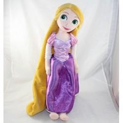 Poupée peluche Raiponce DISNEY STORE robe mauve princesse 50 cm