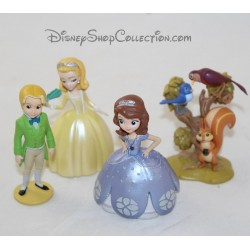 Lot of 4 figurines DISNEY STORE Princess Sofia pvc 7 cm