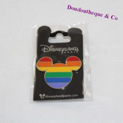 Pin's head of Mickey DISNEYLAND PARIS Rainbow Disney 4 cm