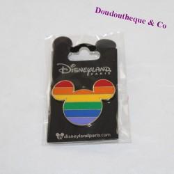 Pin's tête de Mickey DISNEYLAND PARIS Rainbow Disney 4 cm