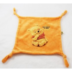 Doudou flat Winnie the orange square DISNEY Pooh Cub Baby Pooh Is So Sweet