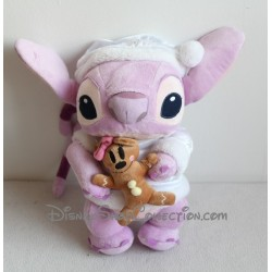 Peluche Angel DISNEYLAND PARIS biscuit de Noël Minnie Disney Lilo et Stitch