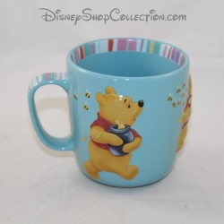 Mug embossed Winnie the CUB DISNEY STORE 3D ceramic blue cup 10 cm