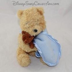 Winnie the Cub BEAR DISNEY STORE It's a boy 2002 blue handkerchief 17 cm