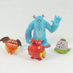 Figurines Monstres et compagnie DISNEY PIXAR lot de 4 figurines playset