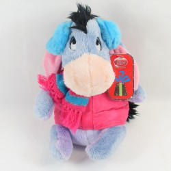 Peluche Bourriquet DISNEY STORE winter coat pink hides ears NEUF 24 cm