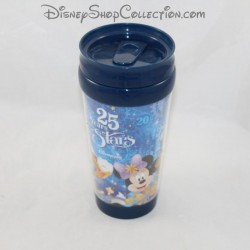 Mug de voyage DISNEYLAND PARIS 25 ème anniversaire multi personnages plastique Disney 17 cm