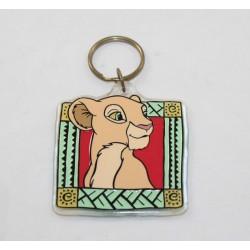 Porte clés lionne Nala DISNEY Le roi lion carré vintage plastique