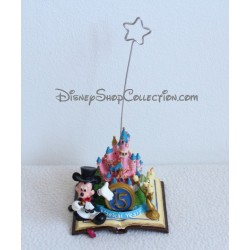 Figurine photo holder DISNEYLAND PARIS resin Mickey and Light 15th anniversary Disney
