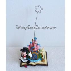 Figurine porte photo DISNEYLAND PARIS résine Mickey et Lumière 15éme anniversaire Disney
