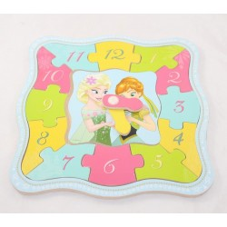 Wood Puzzle Disney Snow Queen Learns Anna and Elsa Time